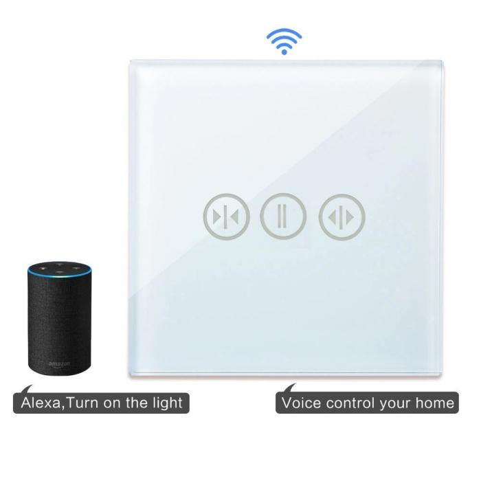 Întrerupător Touch actionare jaluzele WIFI+RF Direct - moono [0]