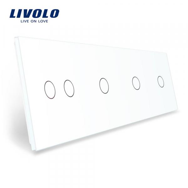 Panou întrerupător dublu+simplu+simplu+simplu din sticlă Livolo 0