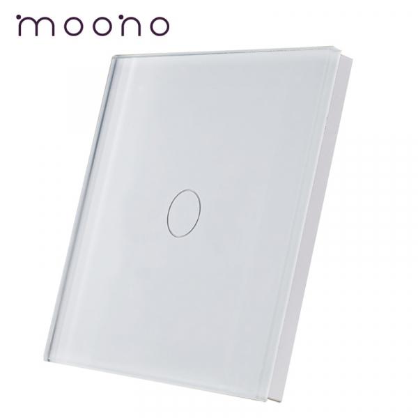 Panou întrerupător simplu din sticlă M1 moono 0