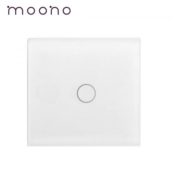Panou mini 47x47mm întrerupător simplu din sticlă M2 moono
