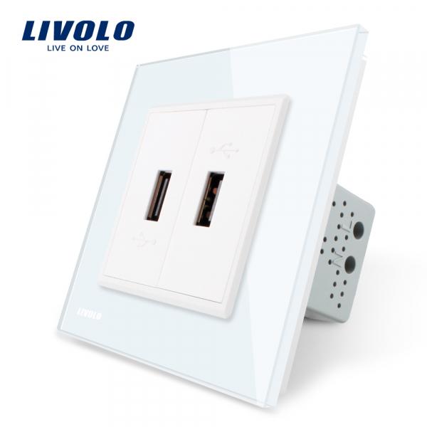 Priză 2 x USB Livolo (2 x 5V / 2.1A)