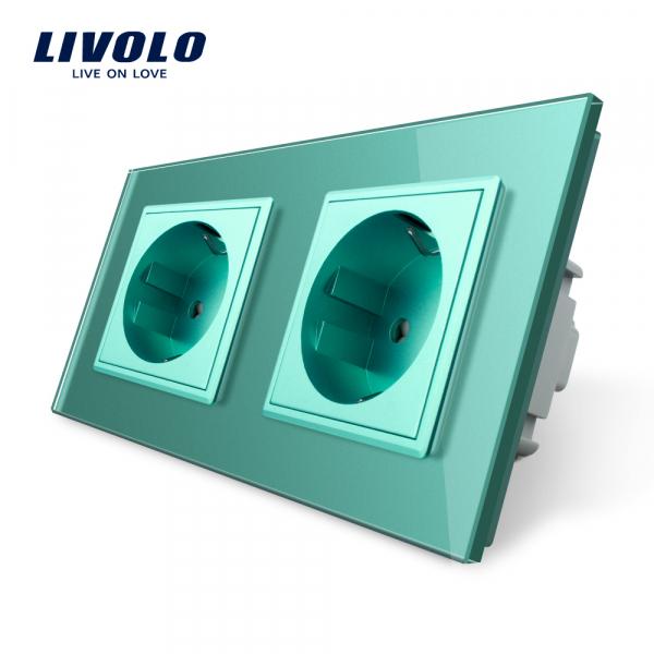Priză dublă Schuko Livolo 0