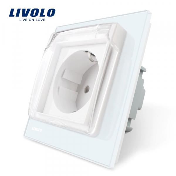 Priză Schuko Livolo cu Capac Protecție 0
