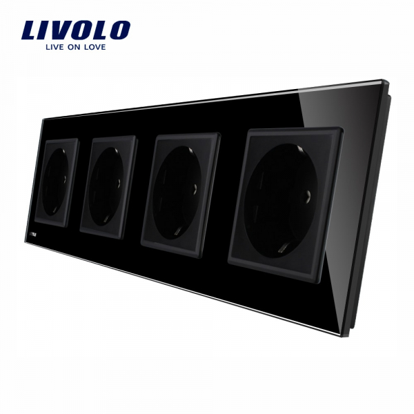 Priză cvadruplă Schuko Livolo 0