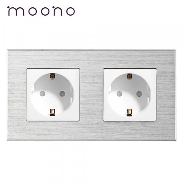 Priză dublă Schuko M2 moono 0