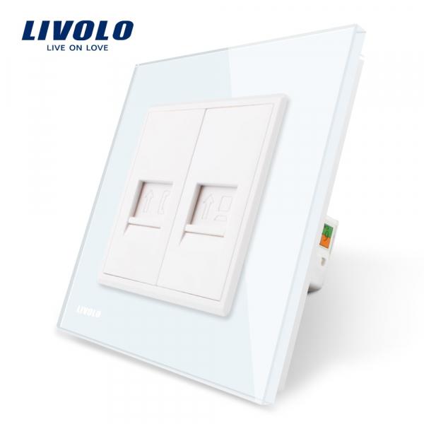 Priză RJ11 + RJ45 Livolo 0