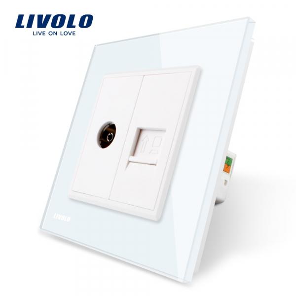 Priză TV + RJ45 Livolo 0