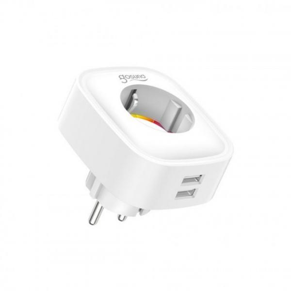 Priza inteligenta Gosund 16A + 2 USB 2.1A cu control WiFi si monitor consum 0