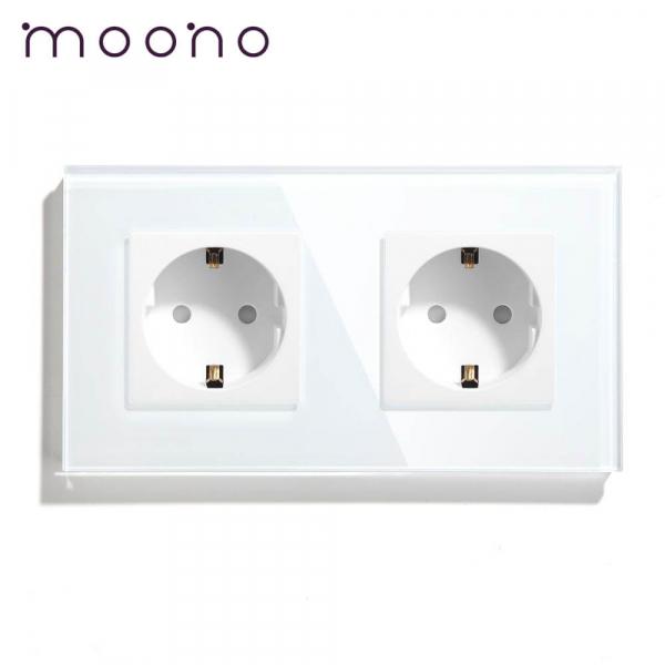 Priză dublă Schuko M1 moono 0