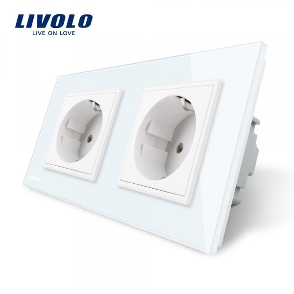 Priză dublă Schuko Livolo [0]