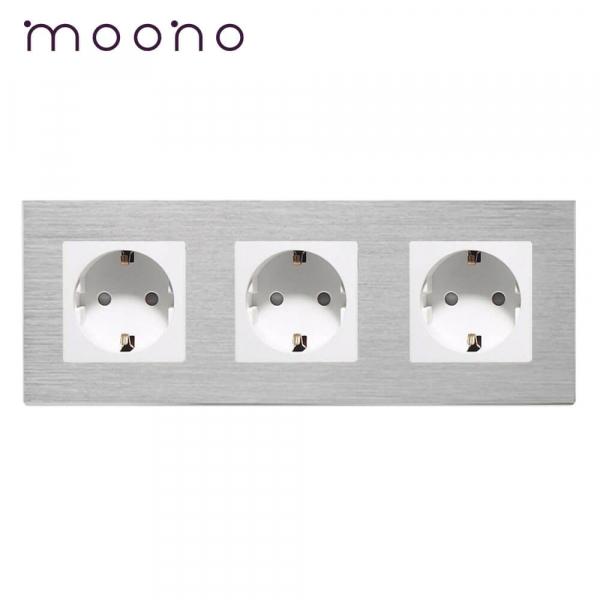 Priză triplă Schuko M2 moono 0