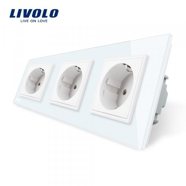 Priză triplă Schuko Livolo 0