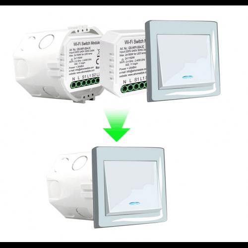Releu mini 2 canale WiFi Tuya [1]