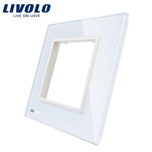 Ramă priză simplă din sticlă Livolo 0