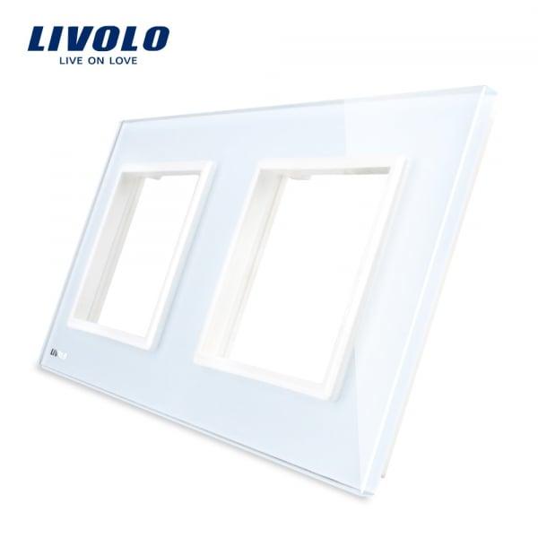 Ramă priză dublă din sticlă Livolo 0