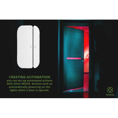 Senzor magnetic usi si ferestre Smart WiFi WOOX [5]