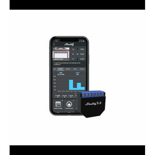 Shelly 2.5 - releu 2 canale pentru jaluzele/ usi garaj cu monitorizare consum 2X 10A [3]