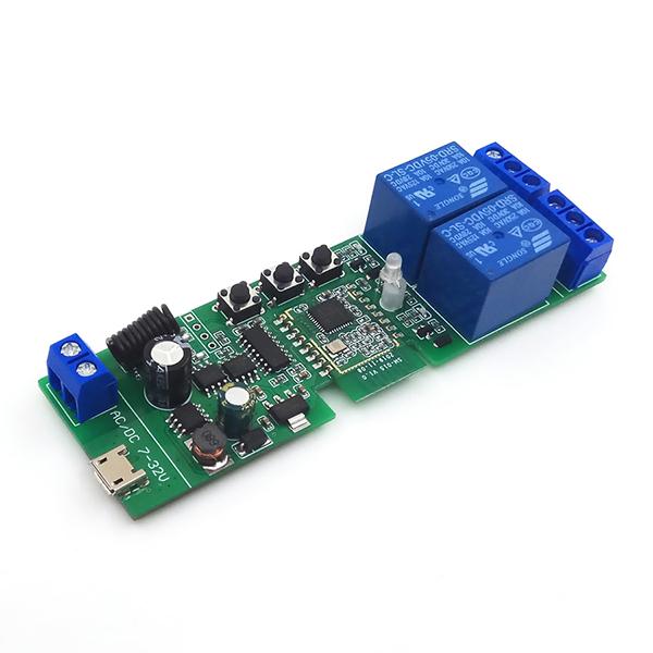 Releu smart cu 2 canale, 5V-32V, dry contact Zigbee + RF SmartWise [0]