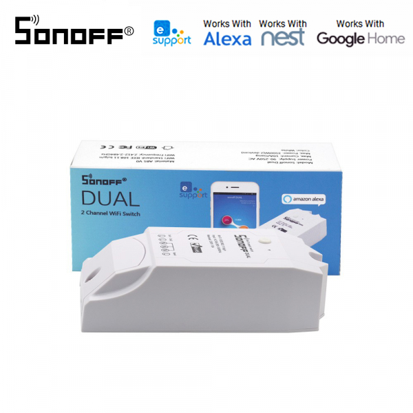 Sonoff Dual R2 - switch inteligent 2 canale WiFi 0