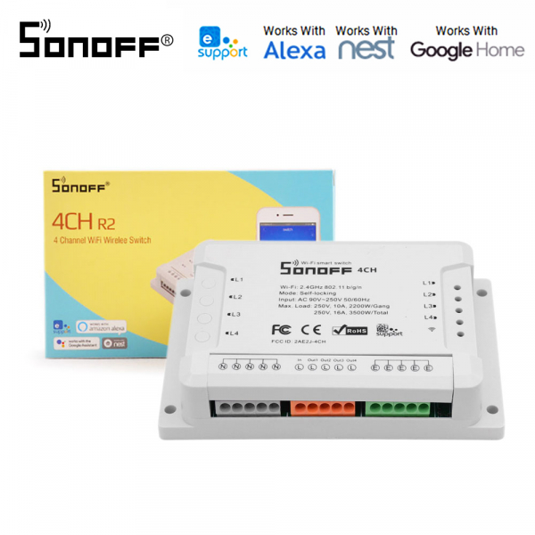 Sonoff 4CH R2 - switch inteligent 4 canale WiFi 0