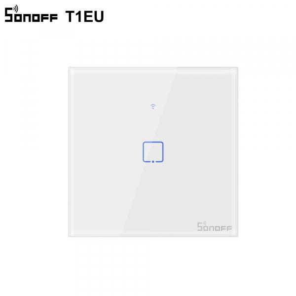 Sonoff T1EU1C-TX - Întrerupător Touch simplu cu control WiFi și RF 0