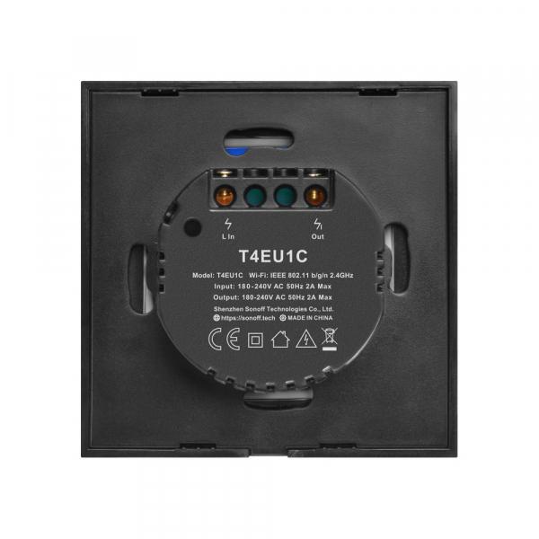 Sonoff T4EU1C - Întrerupător Touch simplu cu control WiFi fără Nul 2