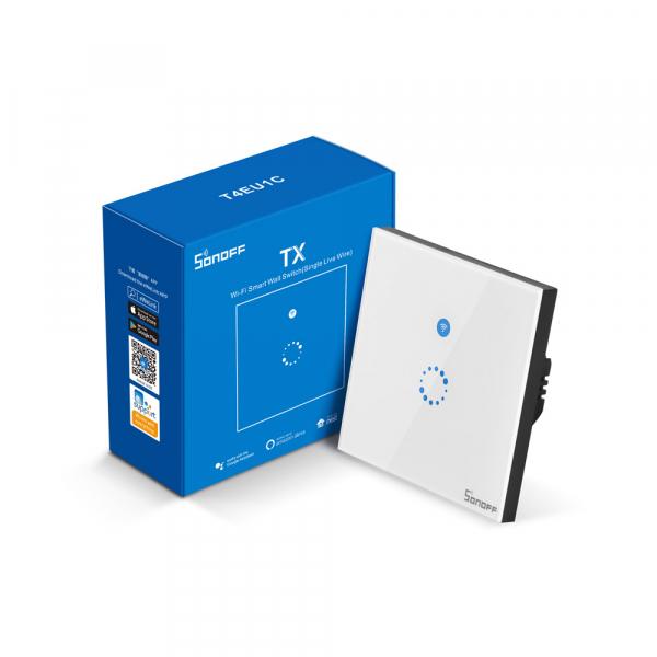 Sonoff T4EU1C - Întrerupător Touch simplu cu control WiFi fără Nul 4