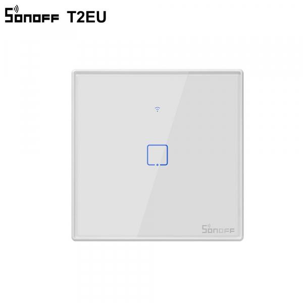 Sonoff T2EU1C-TX - Întrerupător Touch simplu cu control WiFi și RF 0