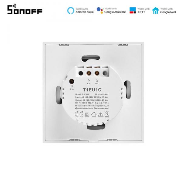 Sonoff T0EU1C-TX - Întrerupător Touch simplu cu control WiFi 2
