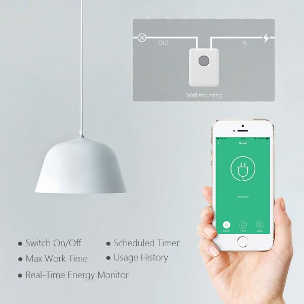 Switch inteligent Broadlink SCB1E cu control WiFi și monitorizare consum 3