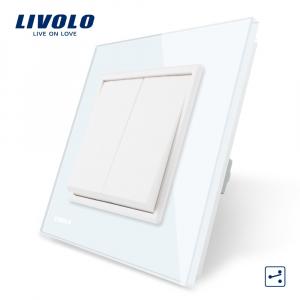 Întrerupător clasic dublu cap-scară Livolo [0]