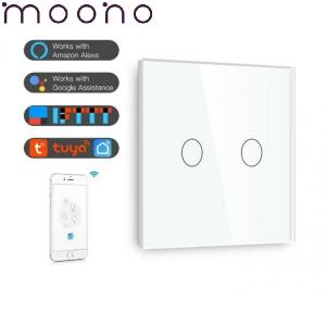 Întrerupător touch dublu WiFi - moono0