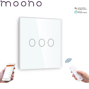 Întrerupător Touch Triplu WIFI+RF Direct - moono0