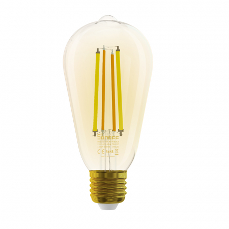 Bec LED CCT smart WiFi cu filament ST64 Sonoff [2]
