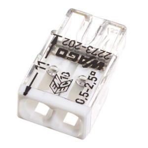 Clemă de doză compactă, 2 poli, Wago0