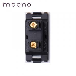 Modul 1/2 priză EURO-US 2P moono1