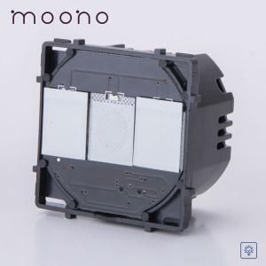 Modul întrerupător touch dublu cu variator (dimmer) moono