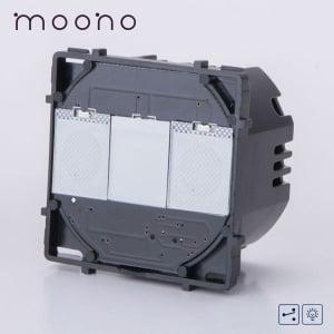 Modul întrerupător touch dimmer cap-scară / cruce moono