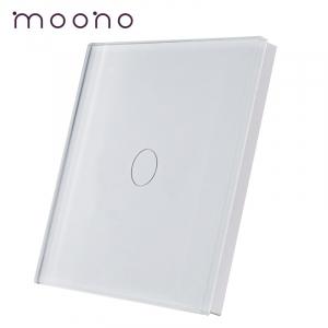 Panou întrerupător simplu din sticlă M1 moono