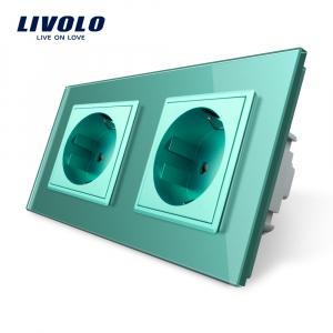 Priză dublă Schuko Livolo1