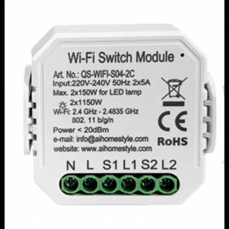Releu mini 2 canale WiFi Tuya [0]