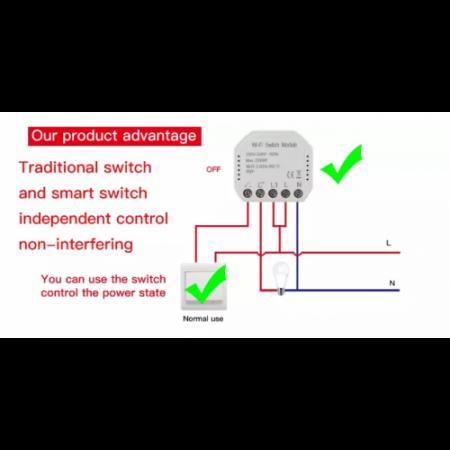 Releu mini 1 canal WiFi Tuya [5]