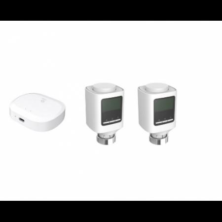Kit valve radiator si capete termostatate Zigbee WOOX [0]