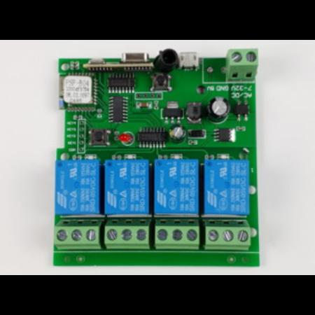Releu smart WiFi+RF cu 4 canale, 5V-32V SmartWise [1]