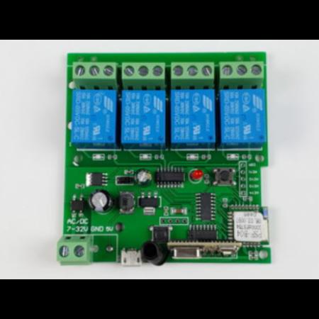 Releu smart WiFi+RF cu 4 canale, 5V-32V SmartWise [2]