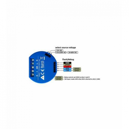 Shelly 1 - releu 1 canal 16A WiFi DIY [2]