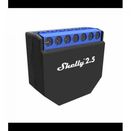 Shelly 2.5 - releu 2 canale pentru jaluzele/ usi garaj cu monitorizare consum 2X 10A [1]