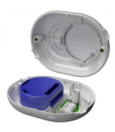 Shelly Button - carcasa cu buton pentru relee Shelly 1, 1PM si Dimmer (alb) [1]