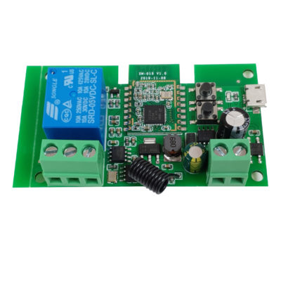 Releu smart cu 1 canal, 5V-32V, dry contact Zigbee + RF SmartWise [1]