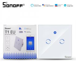 Sonoff T1 Eu - întrerupător tactil dublu WiFi și RF